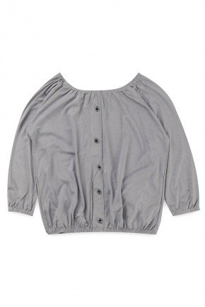 blusa ciganinha piradinhos recorte infantil menina inverno cinza