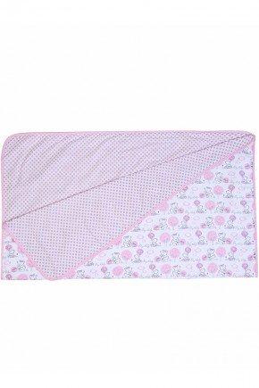 cobertor urso rosa menina bebe piradinhos