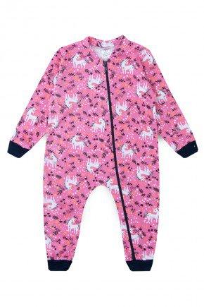macacao unicornio rosa piradinhos bebe infantil menina