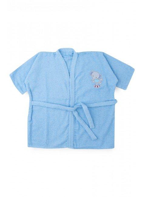 roupao azul elefante piradinhos infantil menino