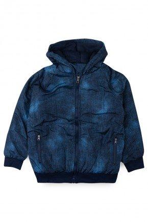 jaqueta azul piradinhos menino microfibra infantil