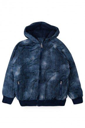 jaqueta azul escuro piradinhos menino infantil
