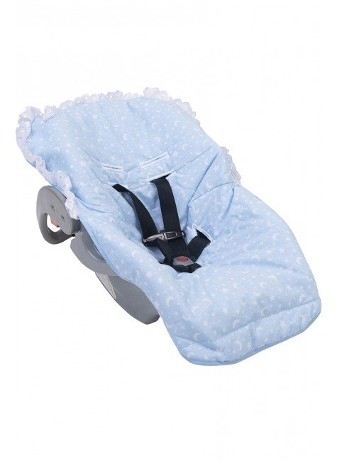 02050405010001 Capa Para Beb Conforto Estampada Azul