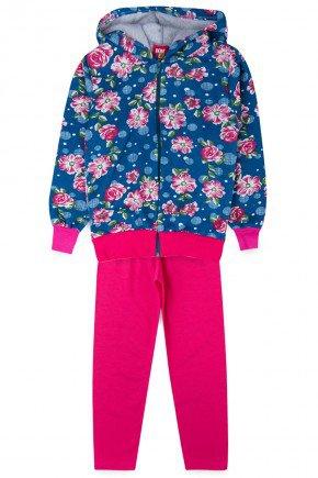 conjunto marinho inverno floral menina infantil piradinhos pink
