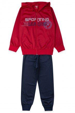 conjunto vermelho piradinhos inverno masculino sporting