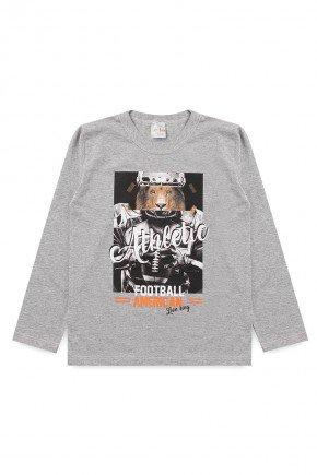 camiseta mescla leao athletic menino manga longa inverno meia malha algodao piradinhos