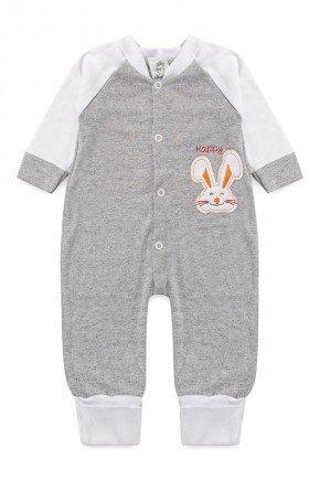 macacao bebe infantil manga longa algodao piradinhos sophi inverno branco bordado