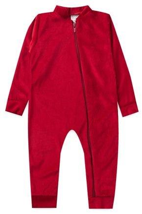 macacao piradinhos vermelho bebe infantil menina plush inverno